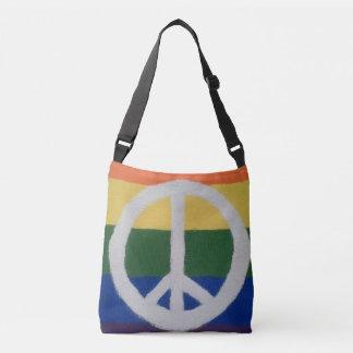 Rainbow Peace Sign Bag