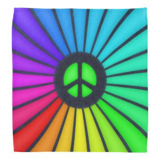 Rainbow Peace Sign Bandana