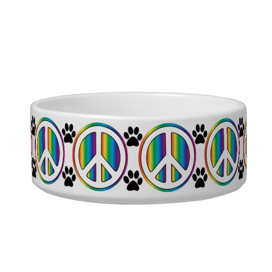 Rainbow peace sign bowl