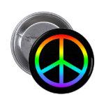 Rainbow Peace Sign Button