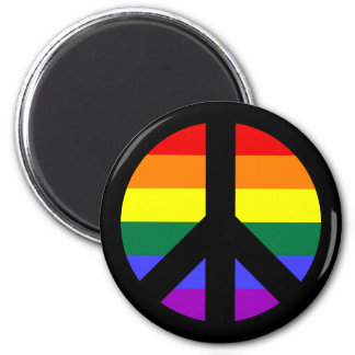 Rainbow Peace Sign Design Magnet