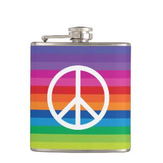 Rainbow Peace Sign Flasks