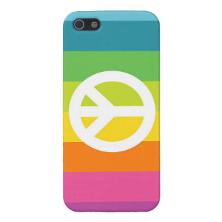 Rainbow Peace Sign iPhone 5/5S Cover