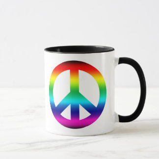 Rainbow Peace Sign Mug