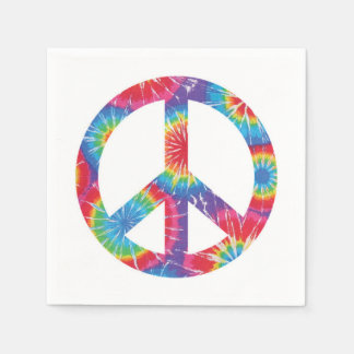 Rainbow Peace Sign Napkins 60s sixties party Paper Napkin