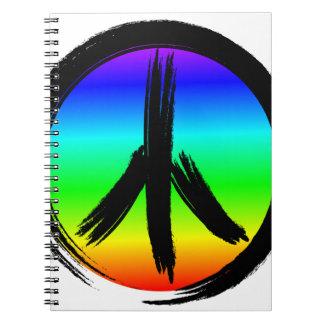 Rainbow Peace Sign Notebook
