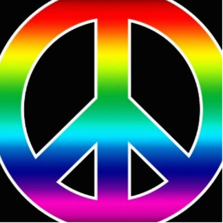 Rainbow Peace Sign Cut Outs