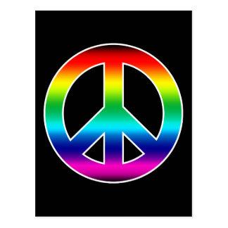 Rainbow Peace Sign Post Cards
