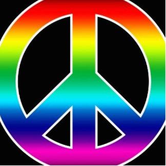 Rainbow Peace Sign Standing Photo Sculpture