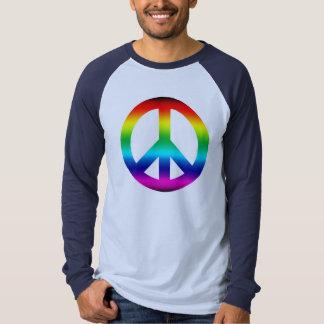 Rainbow Peace Sign Tee Shirts