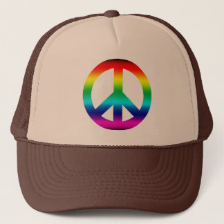 Rainbow Peace Sign Trucker Hat
