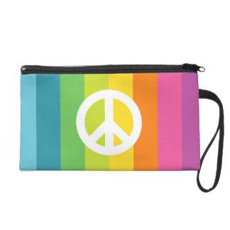 Rainbow Peace Sign Wristlet