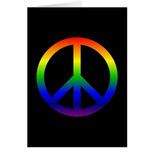 Rainbow Peace Symbol Card