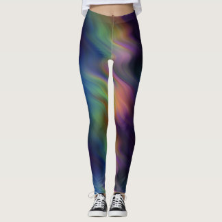 Rainbow peacock fun disco leggins leggings
