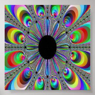 Rainbow Peacock Poster