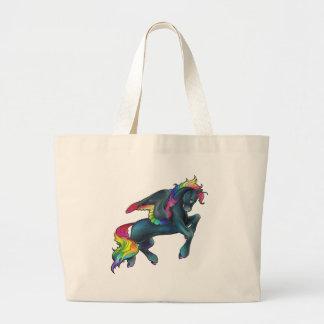 Rainbow Pegasus Tote Bag