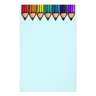 Rainbow Pencil stationary Stationery