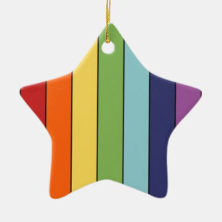 Rainbow pencils christmas ornament
