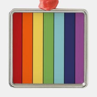 Rainbow pencils christmas ornament