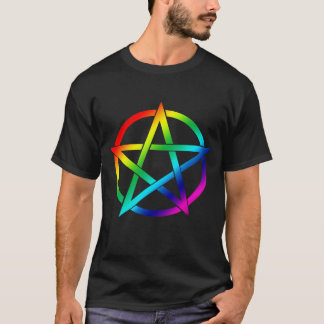 Rainbow Pentacle for Dark Shirts