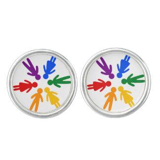 Rainbow People Cufflinks