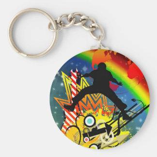 Rainbow People  Human Movement Jump Destiny Keychain