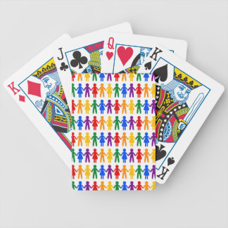 Rainbow People Pattern Bicycle Playing Cards