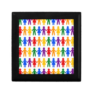Rainbow People Pattern Gift Box