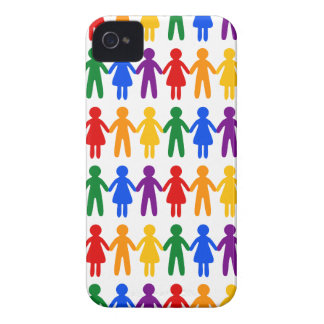 Rainbow People Pattern iPhone 4 Cover