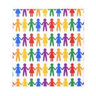 Rainbow People Pattern Notepad