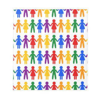 Rainbow People Pattern Notepads