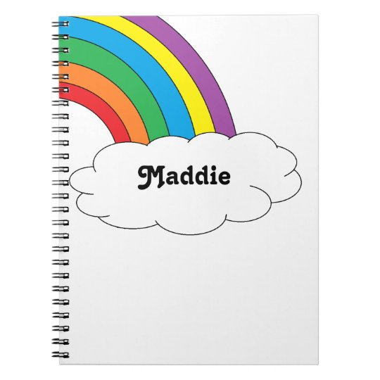 Rainbow Personalised Notebook