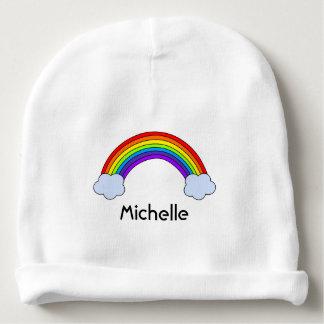 Rainbow Personalized Baby Beanie