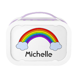 Rainbow Personalized Lunch Box