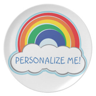 RAINBOW | personalized plate