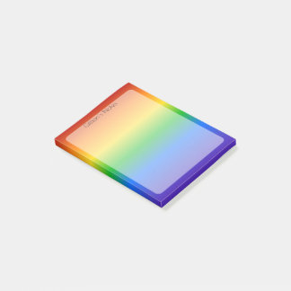 Rainbow Personalized Post-it Notes