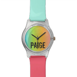 Rainbow Personalized Watch
