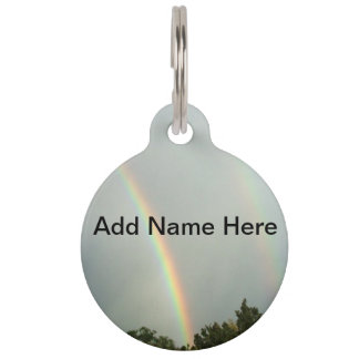 Rainbow Pet Name Tag