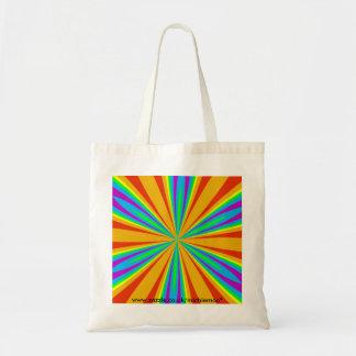 Rainbow Petals Tote Budget Tote Bag