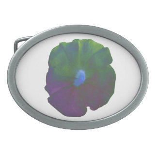 Rainbow Petunia Belt Buckle