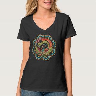 Rainbow Phoenix Ladies Long Sleeve Shirts