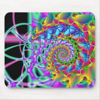 rainbow phoenix spiral mouse mat
