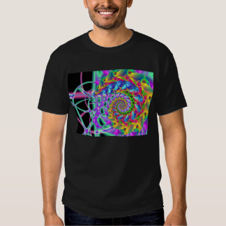 rainbow phoenix spiral t shirt