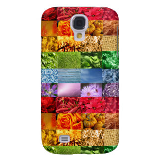 Rainbow Photo Collage Galaxy S4 Cover