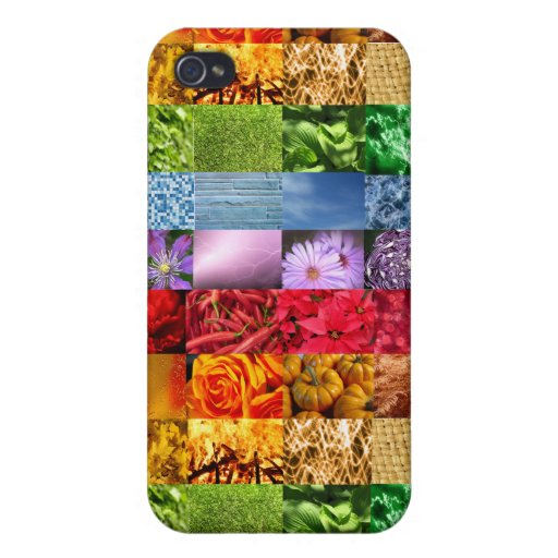 Rainbow Photo Collage Cases For iPhone 4