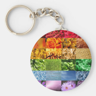 Rainbow Photo Collage Keychains