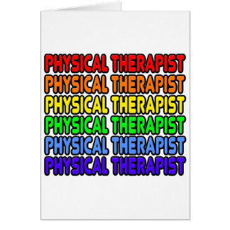 Rainbow Physical Therapist Greeting Card