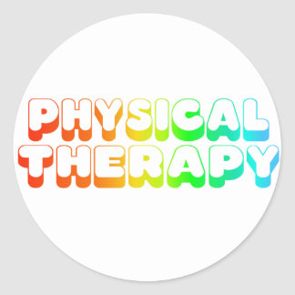 Rainbow Physical Therapy Classic Round Sticker