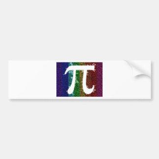 Rainbow Pi Sign Bumper Stickers
