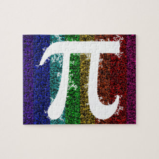 Rainbow Pi Sign Jigsaw Puzzle